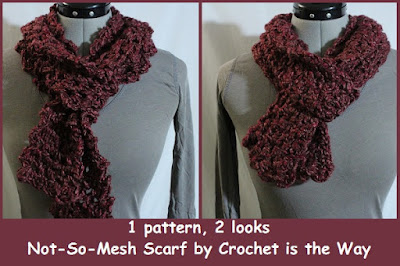 crochet, Country Loom, easy, free pattern, lace, Loops & Threads, mesh, scarf, super-bulky, tutorial, video, yarn