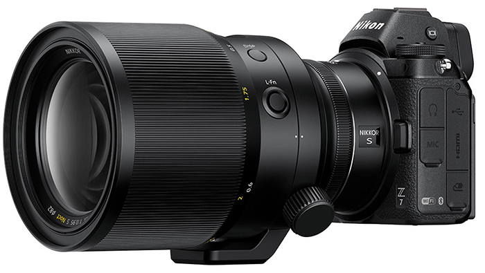 Объектив Nikkor Z 58mm f/0.95 S Noct установлен на камеру Nikon Z7