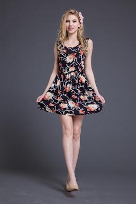 Modelos de vestidos cortos de diario