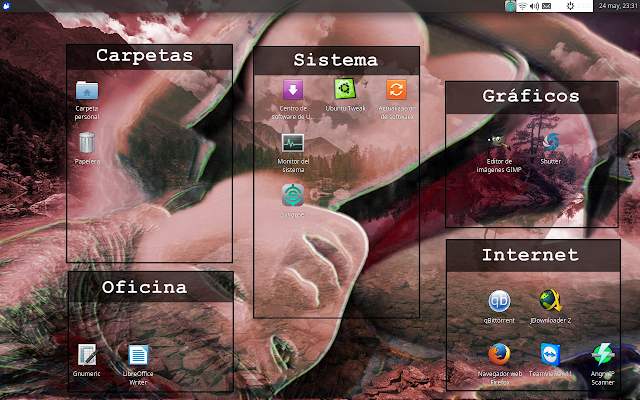Fondo de pantalla para organizar los iconos del escritorio
