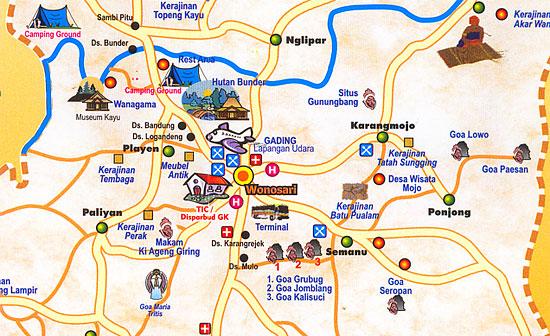 Peta Wisata Gunungkidul | Kedai Susu 01 Wonosari