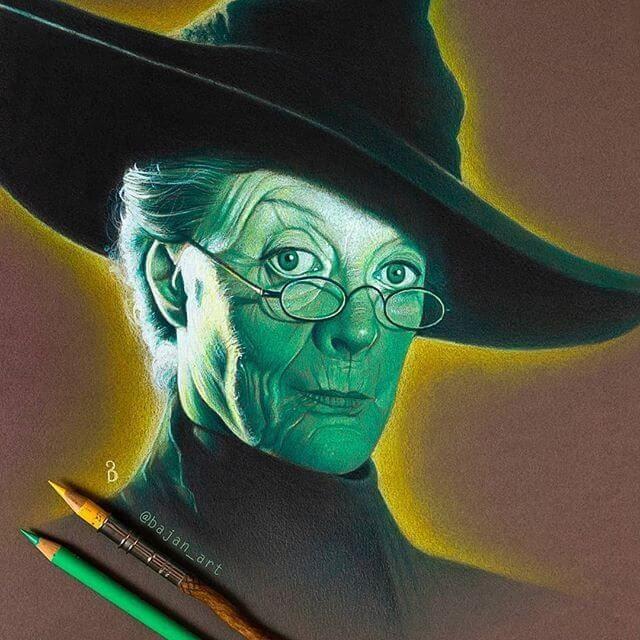 01-Minerva-McGonagall-Maggie-Smith-Lukasz-Andrzejczak-www-designstack-co