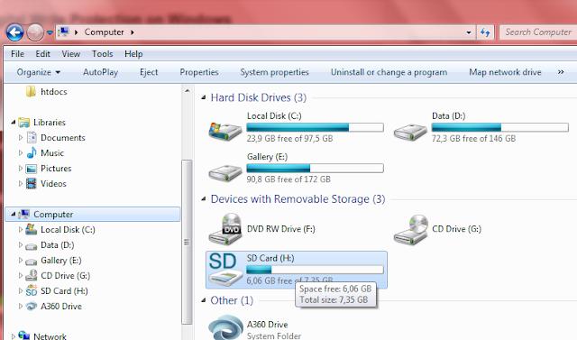 SD Card terbaca oleh komputer