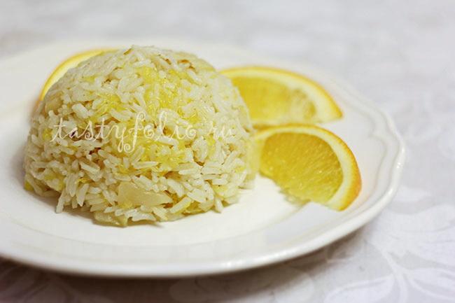 рис с яблоками и апельсинами