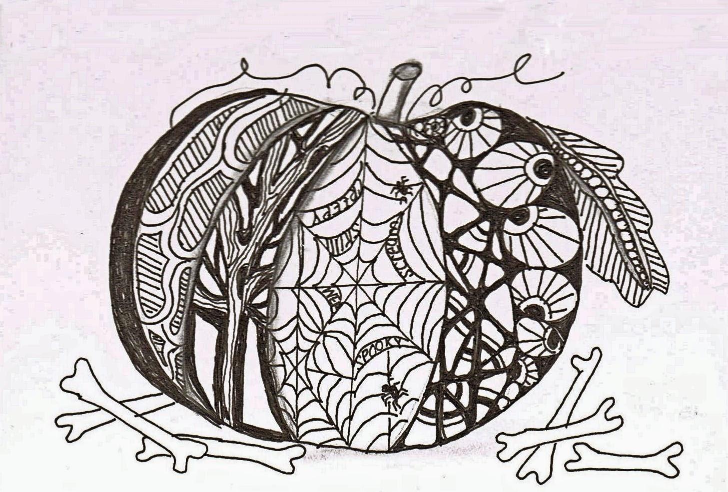Aartvark Cre8tions Zentangle Pumpkin