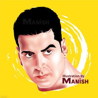 Akshay Kumar Illustration 2019