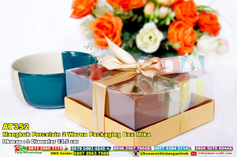 Mangkuk Porcelain 2 Warna Packaging Box Mika