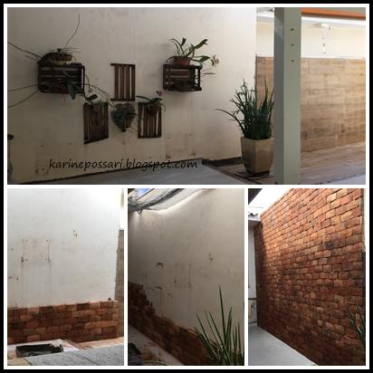 parede com porcelanato imitando madeira