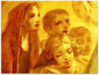 Nossa Senhora e As Crianças, Aldo Locatelli - As Quatro Crianças da Esquerda
