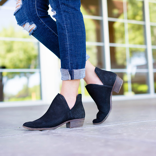 Lucky Ankle Booties Fall Inspiration Outfit