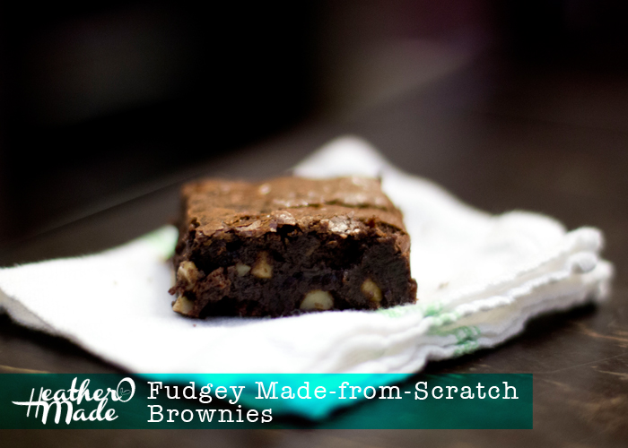 Fudgey Made-from-Scratch Brownies recipe