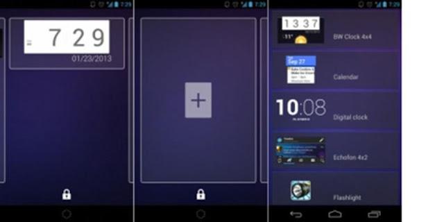 Tempatkan widget di Lockscreen