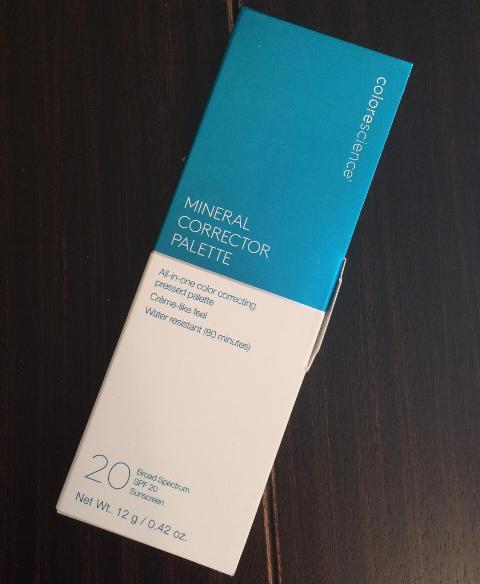colorescience mineral corrector palette spf 20  review
