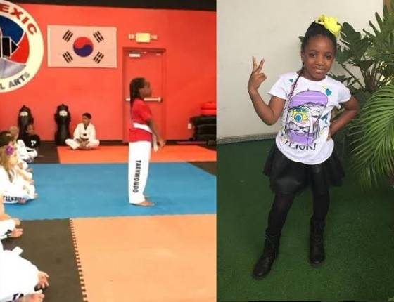 Julius Agwu's daughter becomes a yellow belter in Taekwondo