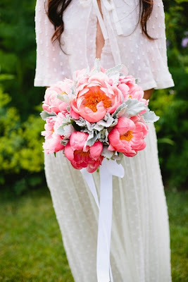 flowers dress boho bride pink bright