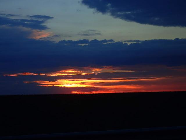 Zachód słońca na Ukrainie