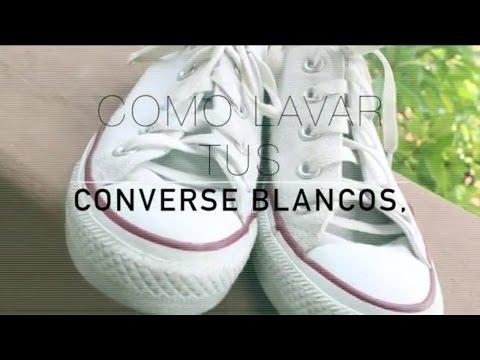 Aparentemente Indirecto España  Como lavar tus zapatillas Converse blancas y dejarlas como nuevas - El Cómo  de las Cosas