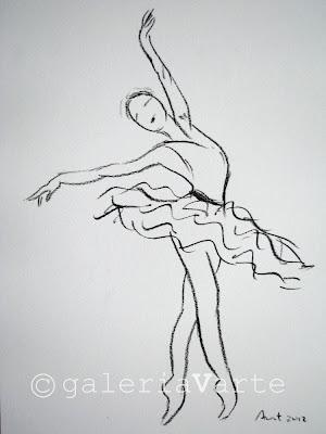 Galeria V Arte Ballet Desenho A Carvao Charcoal Drawing