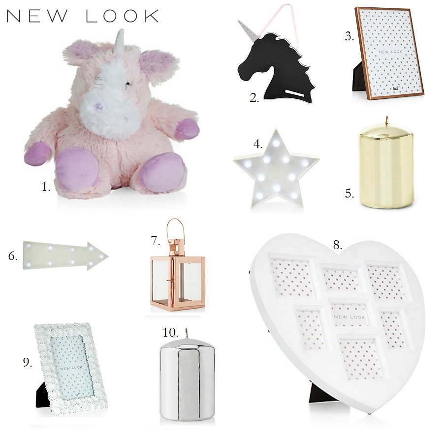 New Look Home, Home Accessories, Budget Home-ware, The Style Guide Blog, Lifestyle Blog, NI Blog, UK lifestyle blog, Irish Blog, Unicorn hot water bottle