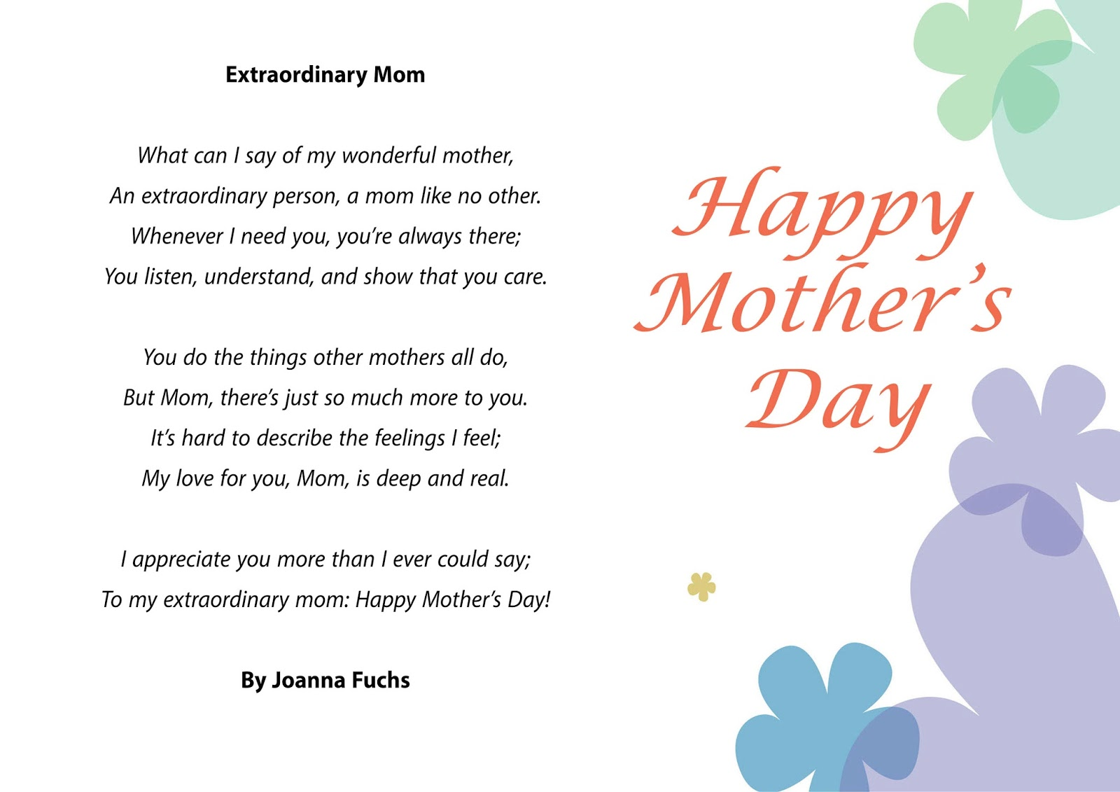 mothers day poems 2016 mothers day 2016