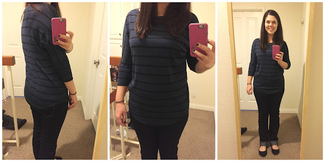 [Stitch Fix] Market and Spruce Corinna Striped Dolman Top - Blue