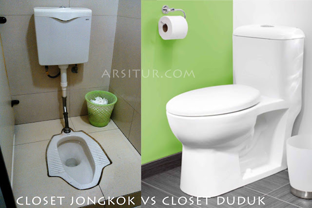 Perbandingan Closet Jongkok vs Closet Duduk