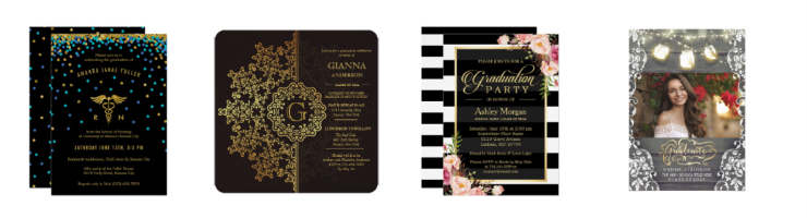 shop zazzle custom graduation invitations