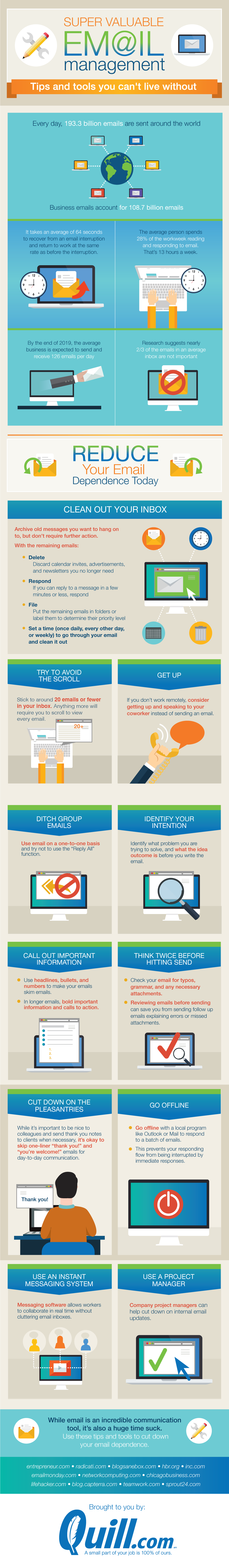 Super valuable email management tips and tools you can't live without #infographic