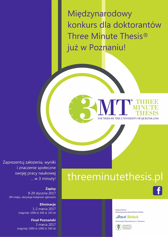 Three Minute Thesis® - plakat