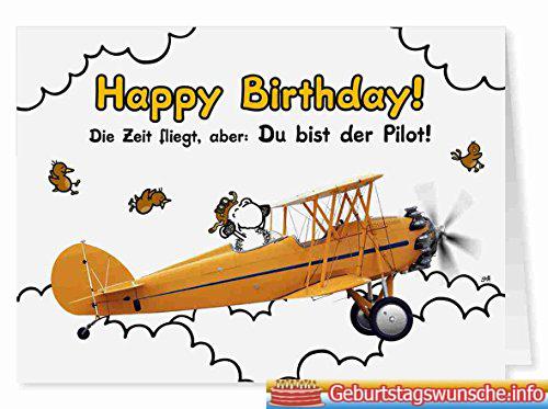 Geburtstagssprüche für Piloten