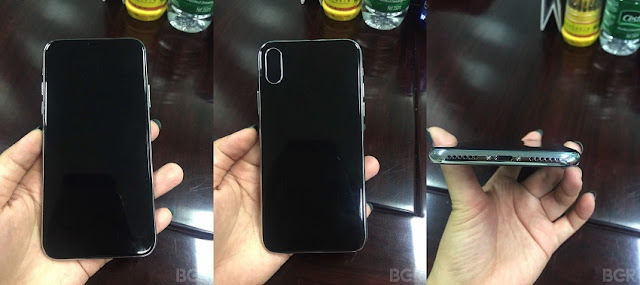 As per Apple's final design iPhone 8 mockup, it is to feature Edge-to-Edge display with slightly curve, vertical dual lens camera, embedded homebutton
