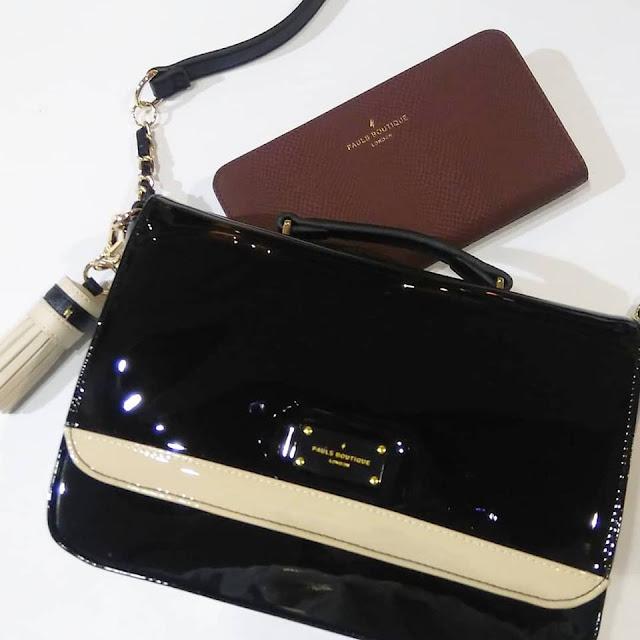 Paul s boutique μαύρη λουστρίνι τσάντα 0faa0c261b4