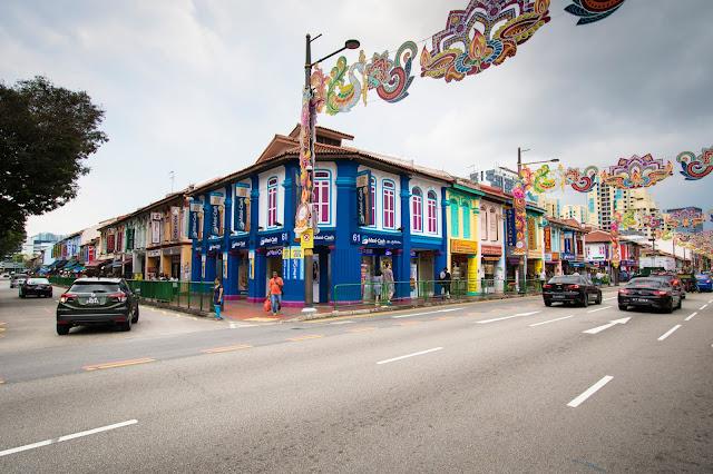 Case coloniali-Shop house-Little India-Singapore