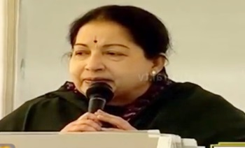 Chief minister Jayalalithaa campaigning at RK Nagar listing out the government's achievements