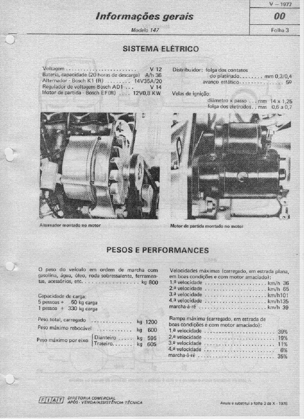 MANUAIS DO PROPRIETÁRIO: Manual de reparação FIAT 147