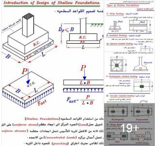 تحميل  كتاب pdf معلومات مهمة فى تصميم وتنفيذ الاساسات