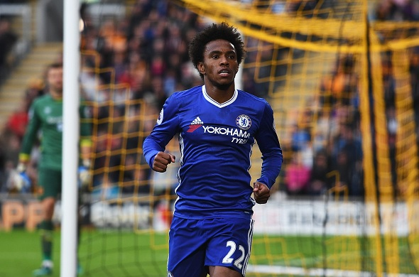No PSG offer received, says Chelsea attacker Willian