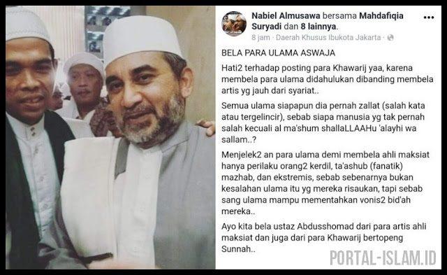Bela Ustadz Abdul Somad, Habib Nabiel: Menjelek-jelekan Ulama Demi Membela Ahli Maksiat Hanya Perilaku Orang Kerdil