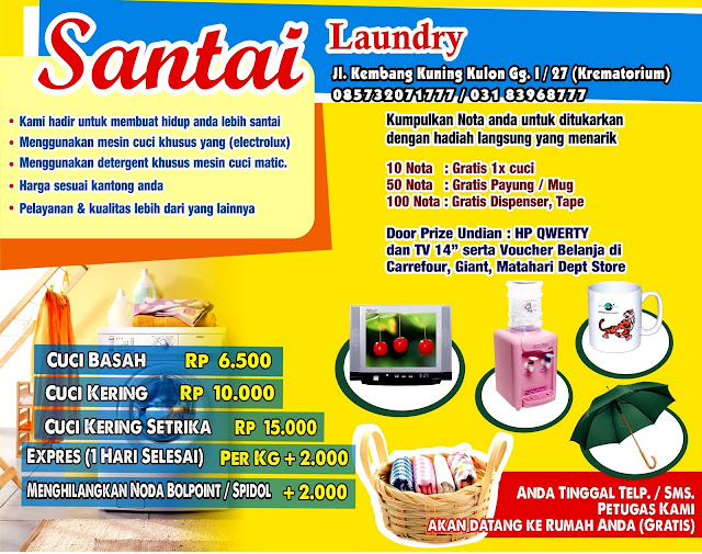 Contoh Desain Brosur Laundry