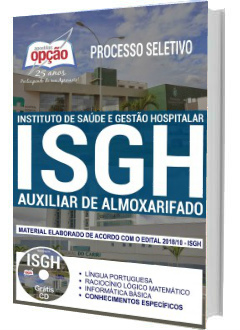 Apostila Concurso ISGH-CE 2018 Auxiliar de Almoxarifado