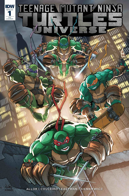 Amazing Houston Comic Con 2016 Exclusive Teenage Mutant Ninja Turtles Universe #1 Variant Cover by Eddie Nunez