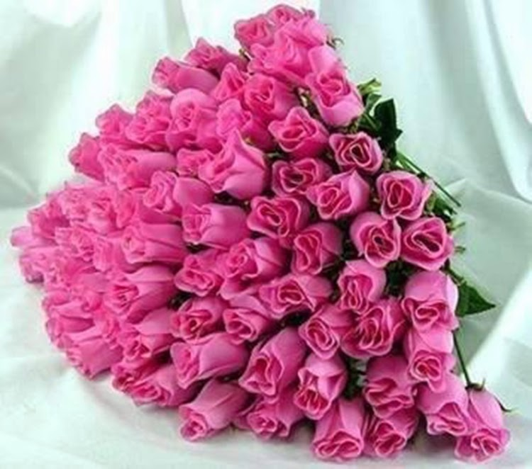 Send Bundle Gift Of Pink Roses Flowers Images Free Online