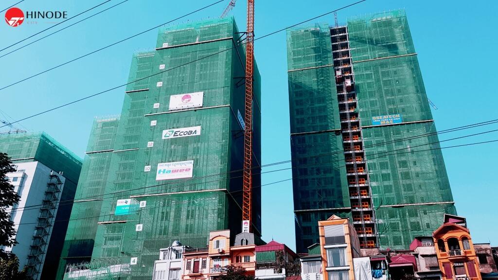 Tiến độ xây dựng toà Asahi Tower chung cư 201 Minh Khai