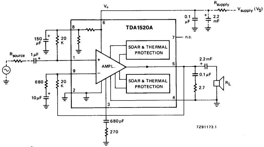 AmplifierCircuits.com: TDA1520A