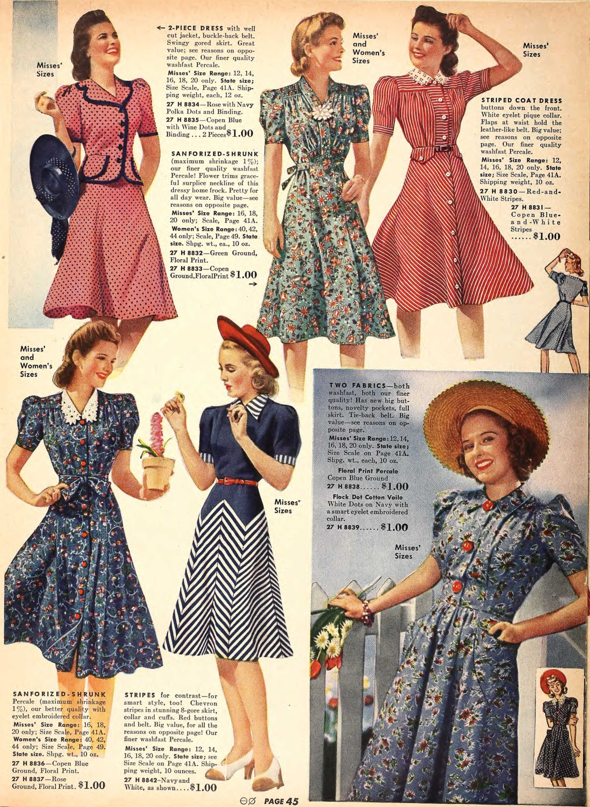 1940s Fashion And Style Trends In 40 Stunning Pictures: Lana Lobell Fashions Of The 50's, 60's And 70's On