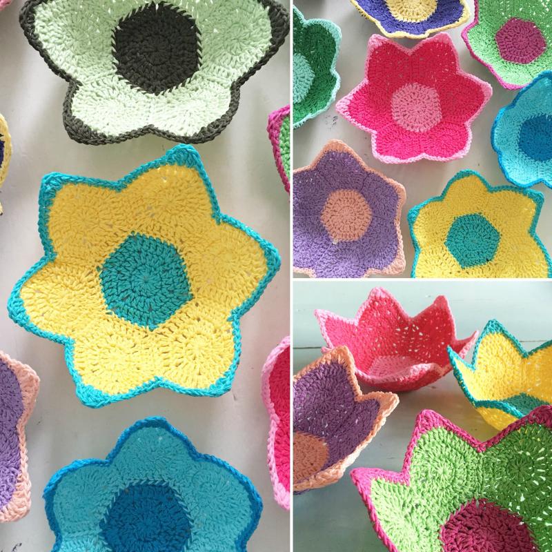 Attys Crochet Flower Basket
