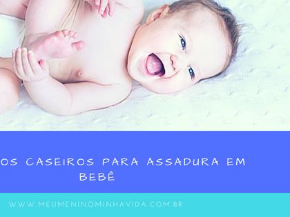 Remédios caseiros para assadura em bebê