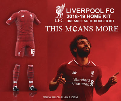 3ae4338ecd6 Liverpool FC 2018 19 Kit - Dream League Soccer Kits - Kuchalana