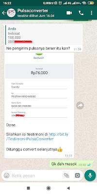 Cara Convert Pulsa Indosat ke ATM