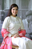 Mannara Chopra in Silky White Salwar Suit with Pink Chunni Latest Exclusive Pics March 2017 ~  016.JPG